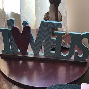 """ I L❤️VE US"" plaque"